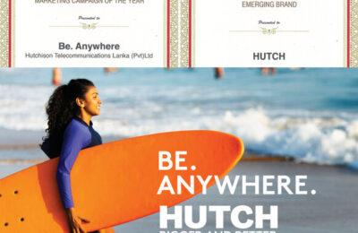 Sri Lanka Brand Leadership Awards 2020 நிகழ்வில் விருது வென்ற ஒரேயொரு தொலைத்தொடர்பாடல் நிறுவனமான  HUTCH