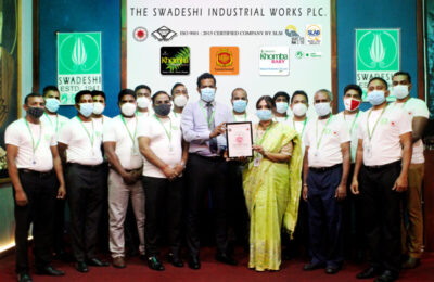 Swadeshi becomes the first personal care and soap manufacturing company in Sri Lanka to earn Covid-19 Safety Management System Certification