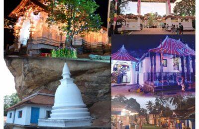 "Swadeshi Khomba illuminates five most important historic places of worship, under the theme, ""Swadeshi Khomba Aloka Puja Sathkaraya"", during the annual Esala festival"